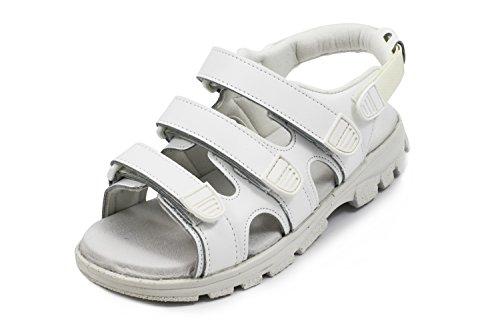 Euro-Dan Walki Sandale mit Klettverschluss, weiß O+E+A+SRC