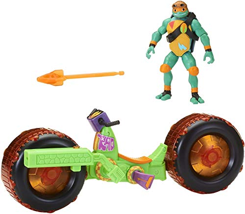 Rise of the Teenage Mutant Ninja Turtles 82483 ROTMNT-Motorrad - Figura de acción de Mikey Giant
