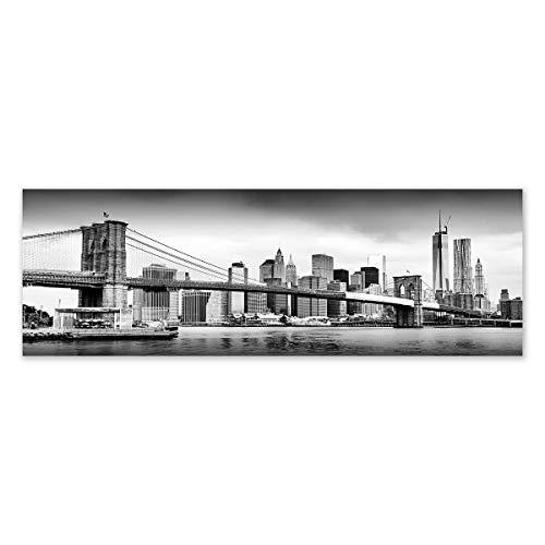 LOLAhome Cuadro cabecero de Cama en diseño Lienzo 180x60 cm (Nueva York)