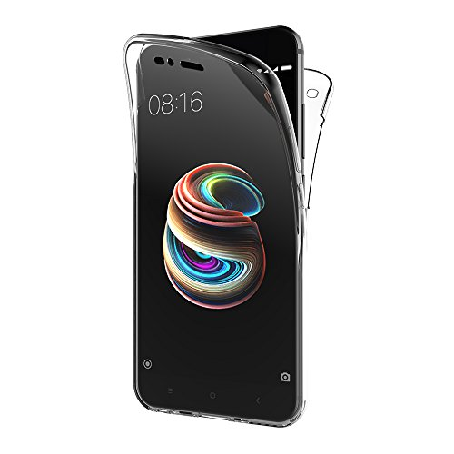 AICEK Funda Xiaomi Mi A1, Transparente Silicona 360°Full Body Fundas para Xiaomi Mi 5X / Mi A1 Carcasa Silicona Funda Case (5,5 Pulgadas)