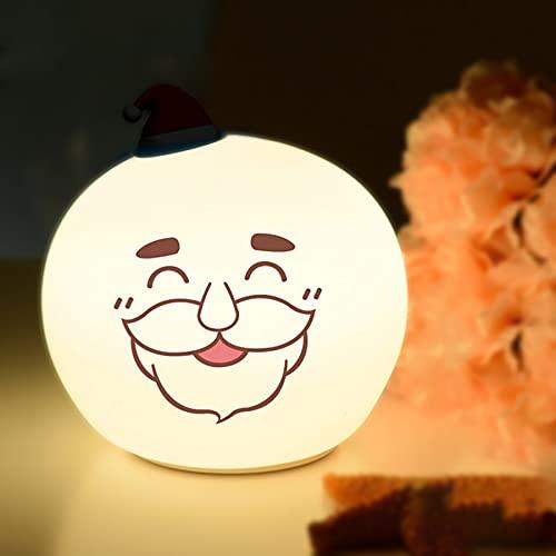 CHOEC Luz Nocturna LED Santa Night Light, Iluminación Nocturna Multiusos, Decoración del Hogar, para Su Amado Niño,White1,12.5 * 12.5 * 12.8cm