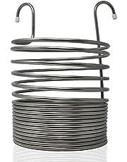 Chiller Enfriador para el Mosto de la Cerveza, 26 cm Ø, Espiral de 17 Vueltas. Acero Inoxidable AISI 304