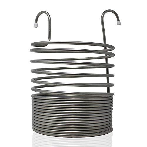 Refrigeratore per l'erba di Birra, 26 cm Ø, Spirale di 17 Giri. Acciaio Inossidabile AISI 304