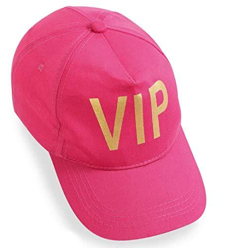KarnevalsTeufel Basecap VIP Sittenpolizei Dart Mütze Schirmmütze Party Spaß JGA Jubiläum Geburtstag Mottoparty Größe variabel verstellbar Kostüm Accessoire Verkleidung (VIP Pink)