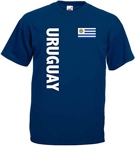 world-of-shirt Herren T-Shirt Uruguay im Trikot Look 3-