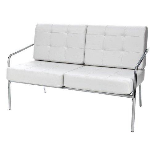 Tomasucci Jazz divano a 2 posti in pelle bianca