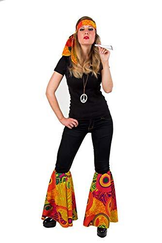 shoperama 2-teiliges 60er Jahre Flower Power Hippie Set Stirnband und Stulpen mit Schlag Woodstock Festival Kostüm-Zubehör Bunt