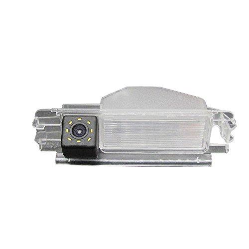 Dynavsal Einparkhilfe, Kamera für Nummerschildbeleuchtung, Kennzeichenbeleuchtung Farb Rückfahrkamera für Dacia Duster Sandero Stepway II 2 (Modell 3 mit LED)