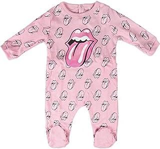 Unbekannt Unbekannt Music Rolling Stones Strampler für Babys, Rosa, 12 Monate