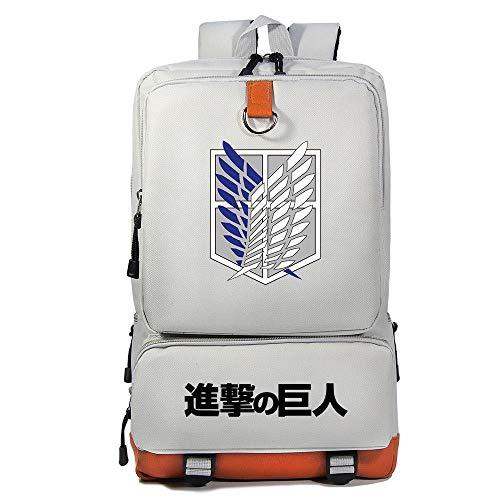 Zaino di Attack on Titan, Alta Capacita Zaino Scuola con Logo della Legione Esplorativa Unisex Casuale Viaggio Zaini Laptop da 17 Pollici Borsa Anime Cosplay Attacco dei Giganti Zaino (G1)