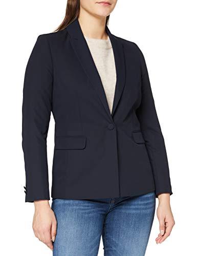 Naf Naf E- Gaby V1 Blazer, Bleu Marine, 38 para Mujer