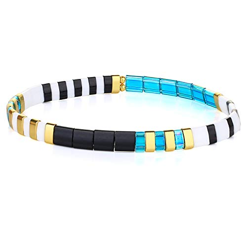 KANYEE Bracelets élastique Bracelets D'amitié Fait Main Bracelets Perlés Tila Bracelets Breloques De Mode pour Femme – 9C