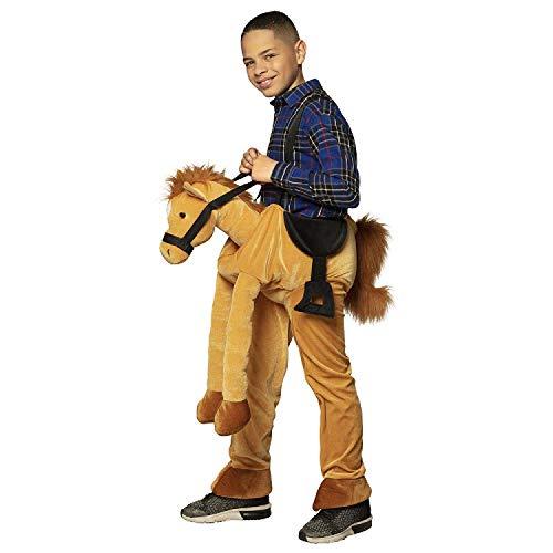 Boland 88080 - Kinderkostüm Auf einem Pferd, Unisex, Kostüm mit Plüsch, Pony, Reiter, Hose mit Tier, Karneval, Fasching, Mottoparty