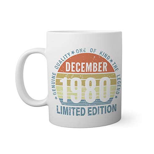 Limited Edition 1980 December 40 years Taza Blanca   Funny N