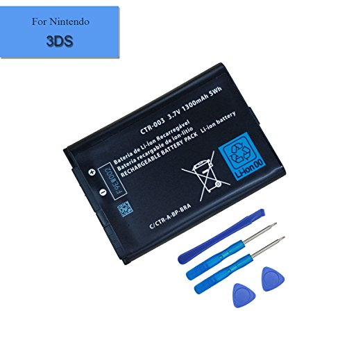 for Nintendo 3DS 2DS XL Game Console Neuer Ersatzakku CTR-003 1300mAh 3.7V + Tools