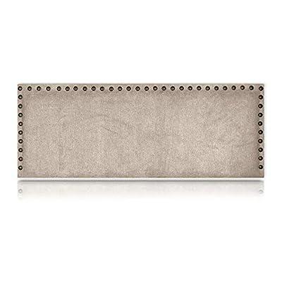 Cabecero tapizado en tejido NIDO antimanchas de primera calidad rematado con tachuelas metálicas en el borde, elegante y moderno. Acolchado con espuma HR de gran calidad y adaptabilidad para un efecto más mullido. Con estructura de madera de pino Gal...