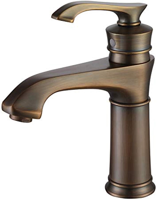 JONTON Basin faucet all copper hot and cold faucet basin faucet single handle double control bathroom washbasin