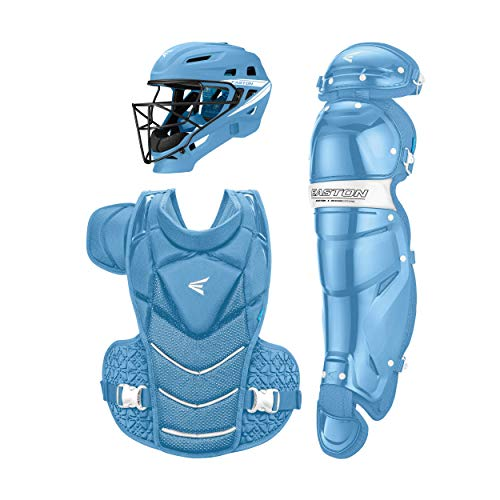 EASTON JEN SCHRO THE VERY BEST Catcher's Equipment Box Set Kit, Medium, Carolina Blue