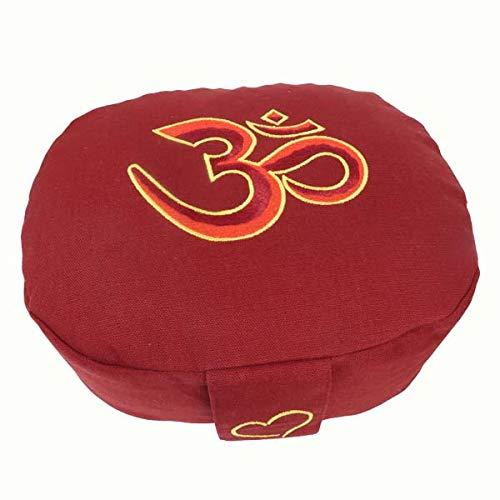 maylow Yoga mit Herz Yogistar - Cojín de meditación (ovalado, con bordado OM)