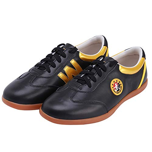 Wesing Tai Chi Schuhe Kung Fu Schuhe Schuhe Schuhe für Kampfsport, Schwarz , 33