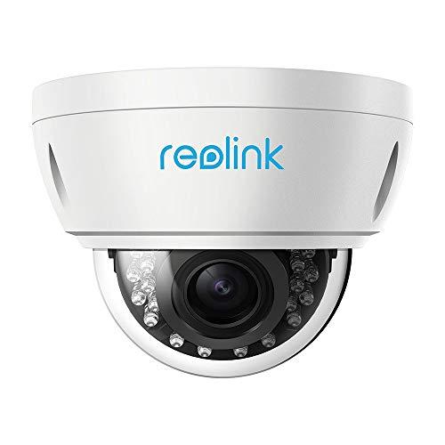 Reolink 5MP Super HD Überwachungskamera PoE IP Kamera mit Micro SD Kartensteckplatz, 4X Optischer Zoom, Fernzugriff und IP66 Wasserfest für Aussen, Innen, Haus Sicherheit RLC-422-5MP