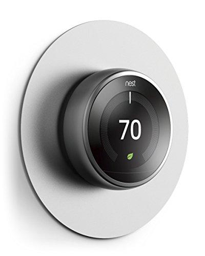 elago Wall Plate Cover Plattenabdeckung Kompatibel mit Google Nest Thermostat 1. 2. 3. und E Generation-[Exakte Farbabstimmung] [Fingerabdruckbeständige Beschichtung] [Langlebiges Aluminium]-Silber