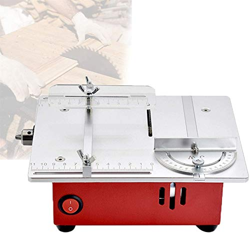 Sierra de mesa portátil de sobremesa, Mini sierra de mesa, taladro de ángulo de ángulo de sierra de sierra de alta potencia, sierras de banco para cortar placas de placa de aluminio plástico, b , Máqu