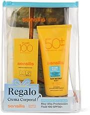 Sensilis Sun Secret - Pack con Protector Solar Facial Ultra Fluid 100 (40 Ml) y Crema Corporal con Spf 50 (200 Ml), 2 Unidades