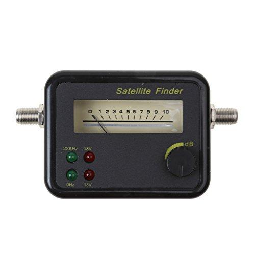 IPOTCH Puntero Satelital Parábola Buscador Satelital Detector Localizador de Señal Pantalla Negro
