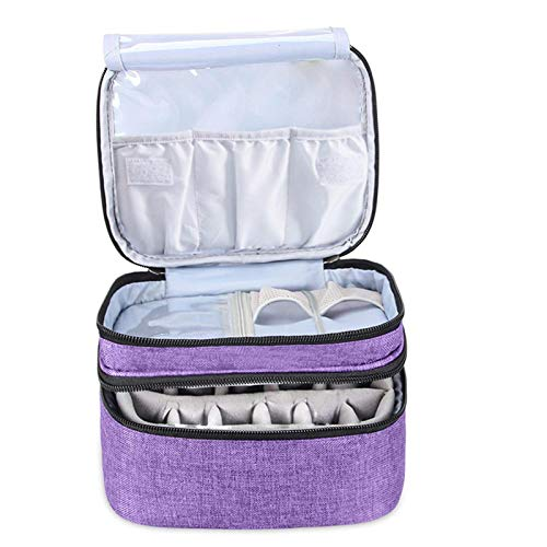 Dacyflower Essential Oil Case, Portable Essential Oils Box Gift for Aromatherapy Fans - Holds 30 Bottles for 5ml, 10ml, 15ml Nail Polish, Fragrance Oils, Essential Oil Normal