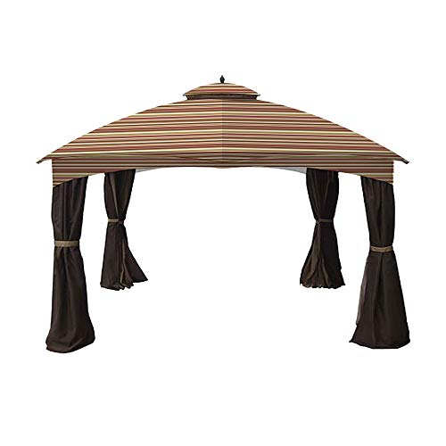 Garden Winds Replacement Canopy for Allen Roth 10x12 Gazebo - Standard 350 - Stripe Canyon - Will NOT FIT Model GF-12S004B-1