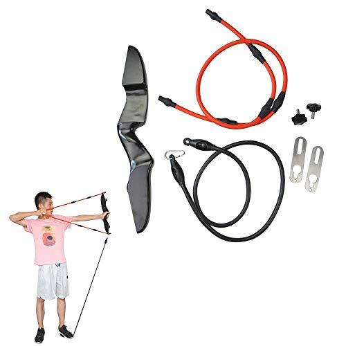MILAEM Bogenschießen Trainingsband mit Bogen Riser Widerstandsbänder für die Armstärke verbessern Arm Trainer Stretch Bands Trainingsgerät Puller 10-40lbs justierbar