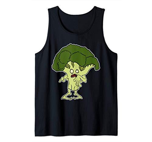 Brcoli Zombie Disfraz de Halloween 2020 Brcoli Fantasma Camiseta sin Mangas