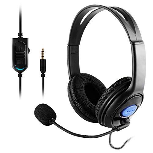 Huiingwen - Auriculares para PS4 (estéreo, con cable, con micrófono, para Playstation 4 Gamers)