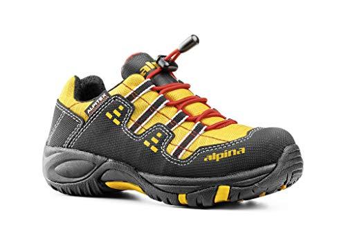 alpina Unisex-Kinder 64021K Trekking-& Wanderschuh, (gelb/schwarz), 25 EU … (25 EU)