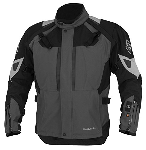 Firstgear 37.5 Kilimanjaro Textile Jacket, Distinct Name: Gray/Black, Gender: Mens/Unisex, Primary Color: Gray, Size: XL, Apparel Material: Textile, Size Modifier: Tall, XF-1-510764
