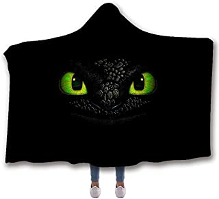 MUMULA How to tr-ain Your Dragon Too-thless Dragon 30 Hooded Throw Blanket Soft Cloak Wearable Hooded Blanket for Adult and Kids