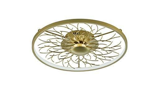 Fischer & Honsel Diego plafondlamp, metaal, 21 W, goudkleurig