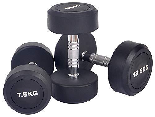 AFDLT Ajustables Mancuernas, Mancuernas Ajustables Desmontable Juego De Mancuernas para Home Gym Fitness Pérdida,Black,1KG
