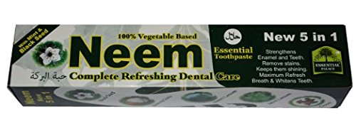 Neem Toothpaste 5 in 1 with Mint & Black Seed 6.5oz 6pk