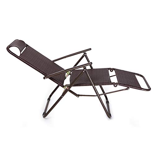Fauteuils de repos pliants Siesta Lounge Chair Zero Gravity Lazy Office Outdoor Portable Beach Chair Hospital Bed
