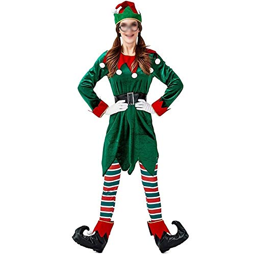 AAJTCT Festival Producten Nieuwe Kerst Elf Jurk Cosplay Kostuums Volwassene Groen Elfje Groen Pak Kerstman