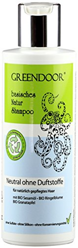 Greendoor Natur Shampoo Neutral 200ml für normales Haar mit Bio Granatapfel, OHNE Duftstoffe Sulfate Silikon, natürlich ohne Tierversuche, basische Haarpflege, outdoor geeignet, Natur Naturkosmetik