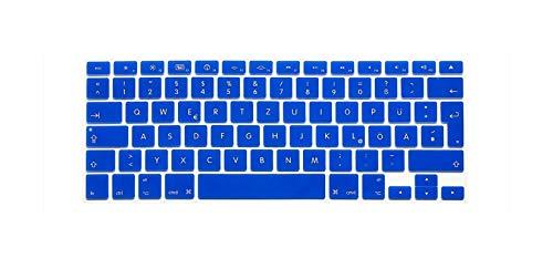 European German Letters Keyboard Protector For Macbook Air Pro Retina 13' 15' 17' Laptop Skin Covers For Mac Book 13 15 Qwertz-Dark Blue
