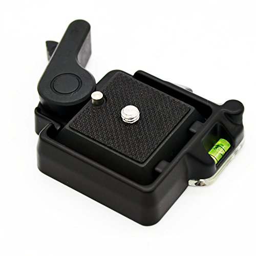 Andoer Compact Schnellspanner Montageplattform Klemm + Schnellwechselplatte für Giottos MH630 Kameramontage MH7002-630 MH5011