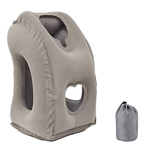 JulySeeYouz Opblaasbaar reiskussen, comfortabel ergonomisch en draagbaar luchtkussen voor nek en hoofdsteun. voor Vliegtuigen, Treinen, Auto's, Bussen, Reizen, Office Napping, Camping