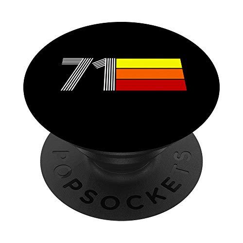 1971 Tri Line PopSockets PopGrip: Agarre intercambiable para Teléfonos y Tabletas