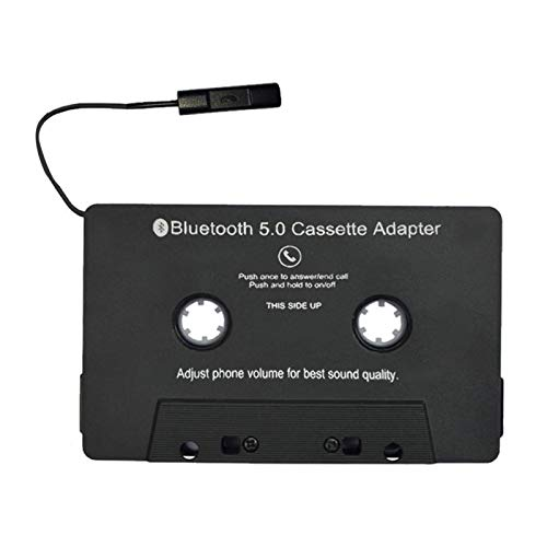 Car Audio Bluetooth Cassette to Aux Receiver, Tape Player Bluetooth 5.0 Cassette Aux Adapter for Car with USB Charging Cable