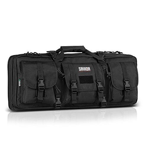 "Savior Equipment American Classic Tactical Double Short Barrel Rifle Gun Case Firearm Bag - Suitable for Subgun Bullpups Carbine Shotgun SMG SBR AR AK Pistol, Available Length in 24"" 28"" 32"""