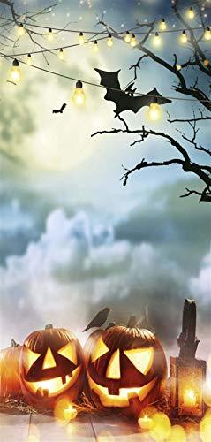 i.stHOME Halloween Deko Banner Textilposter Poster aus Stoff 90 x 180 cm Wanddeko modern, Ladendeko